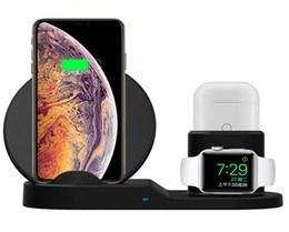 Подставка 3в1 для iPhone, AirPods и Watch силиконовая, NN, черный