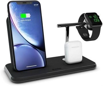 Беспроводная док станция 3 in 1 (iPhone/AirPods/Watch) с функцией быстрой зарядки, черная